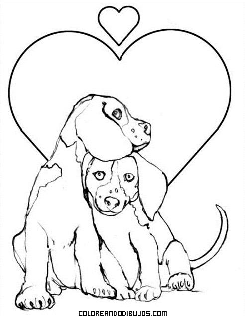 enamorados y corazones