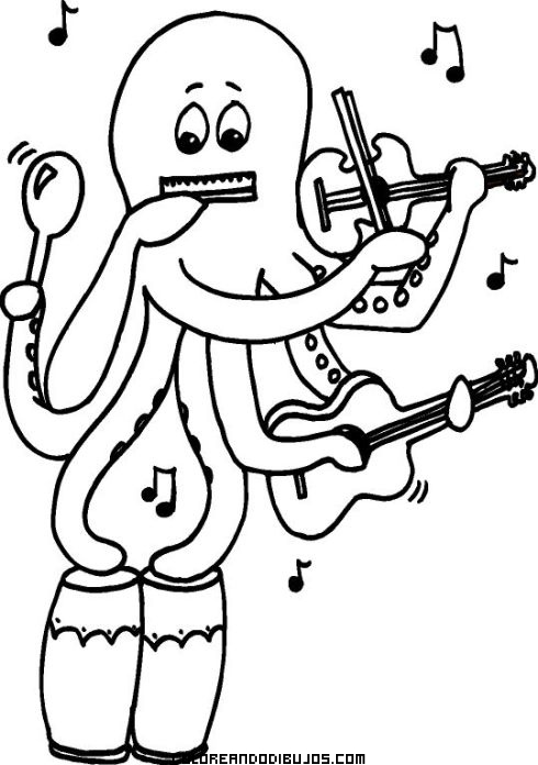 Pulpo muy musical