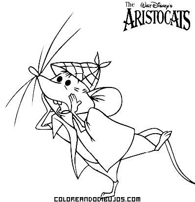 Personaje de los Aristogatos para colorear