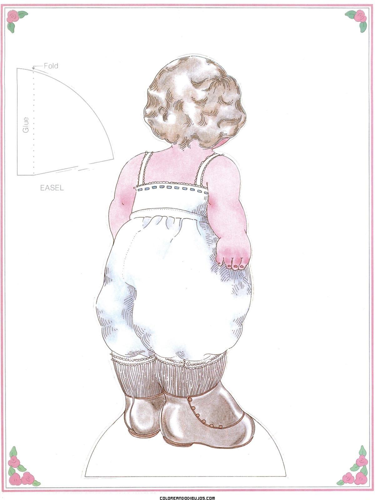 Fanny Louise vista de espaldas