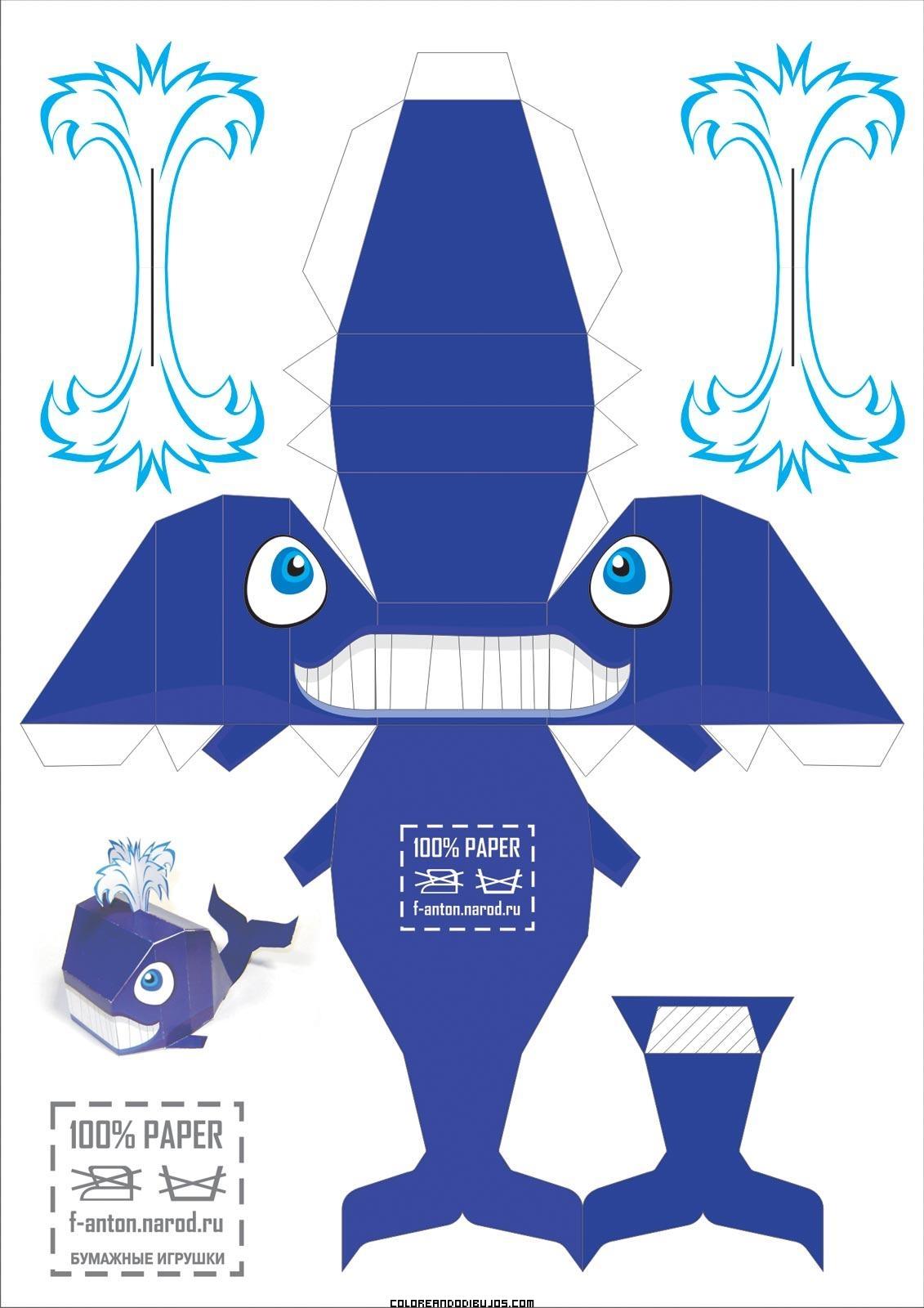 Ballena azul para recortar