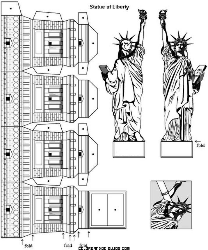de la Estatua de la Libertar para armar