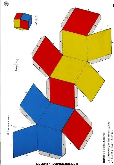 Rombo dodecaedro para armar for Sillas para armar y recortar