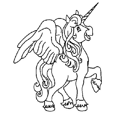 Caballo de fantasía alado