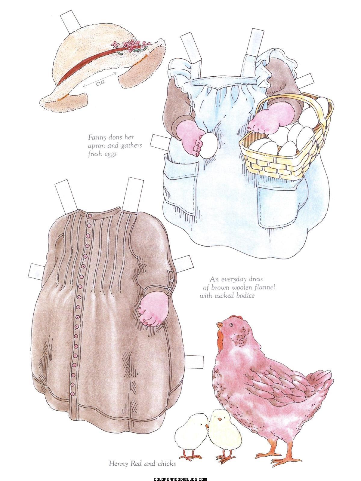 Vestidos recortables para Fanny Louise