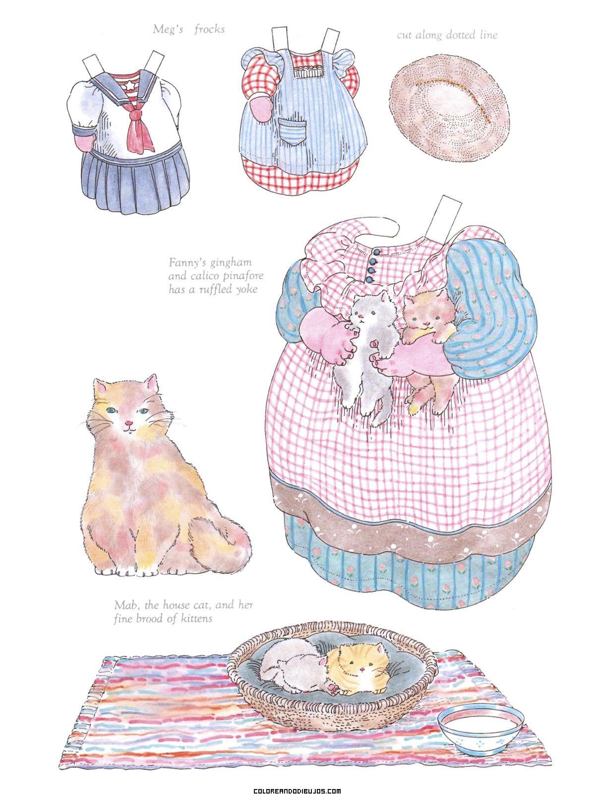 Vestidos recortables de Fanny Louise