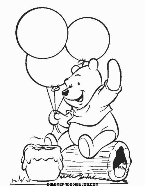 Winnie pooh jugando con globos for Cuarto winnie pooh