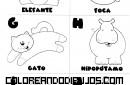 Letras E, F, G, H, I, J para colorear