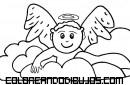 Bebé angelito para colorear