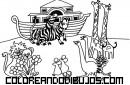 Arca de Noé para colorear