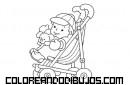 Bebé en su silla de paseo