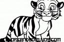 Cachorrito de tigre para pintar