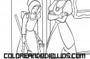 Dibujo de Cenicienta y su Madrastra