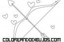 Dibujo de Arco y flechas de Cupido