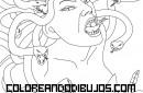 Medusa mitológica para colorear