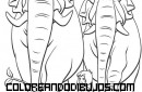 Mowgli y el Coronel para colorear