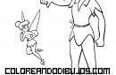 Peter Pan y Campanilla enfadados