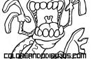 Lagartija con dientes