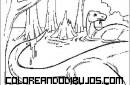 Dinosaurios dándose un baño
