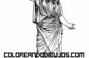 Diosa Atenea para colorear