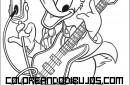 Donald tocando música y cantando