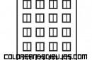 Gran edificio de apartamentos para colorear