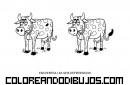 Encuentra las 6 diferencias en las vacas