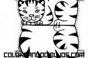Gato recortable para colorear