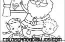 Niños haciendo pastas con Santa Claus