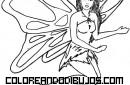 Hada mariposa para colorear