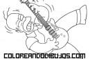 Hommer tocando la guitarra eléctrica