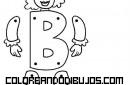 Letra B articulada para recortar y colorear