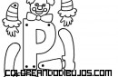 Letra P articulada para recortar y colorear