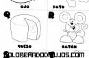 Letras O, P, Q, R, S, T, para colorear