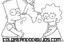 Los hermanos Simpson para colorear