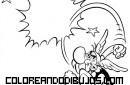 Asterix lanzando un puñetazo al aire