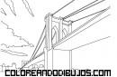 Puente de Brooklyn para colorear