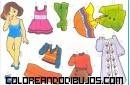 Muñeca y ropa para recortar